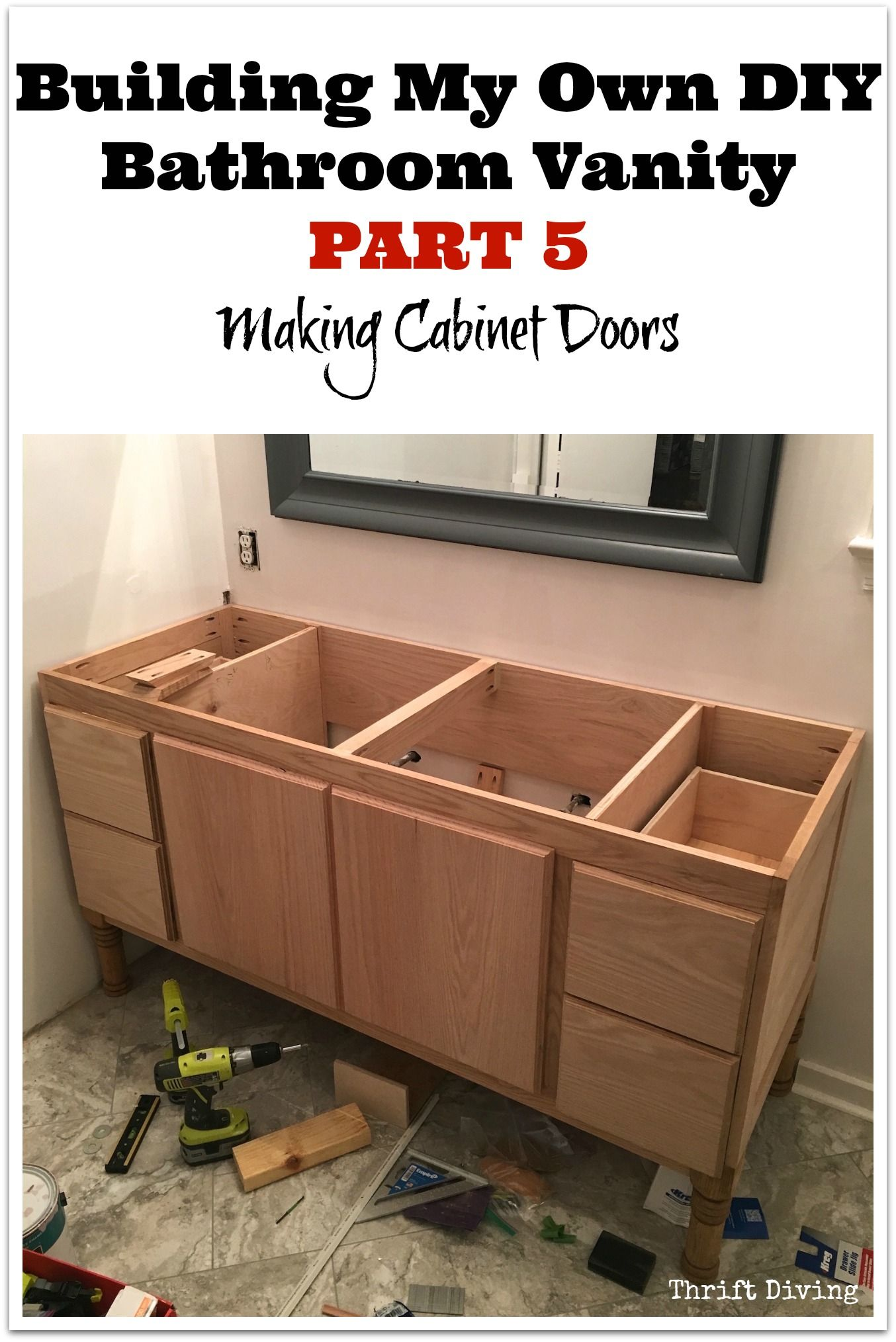 Build A Diy Bathroom Vanity Part 5 Making Cabinet