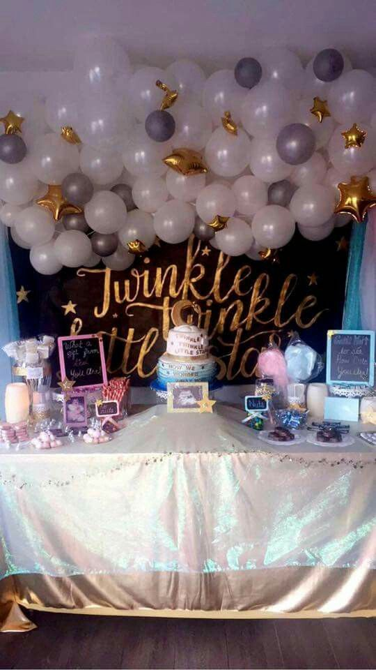 Baby Shower Ideas For Gender Reveal ~ My gender reveal twinkle little star theme