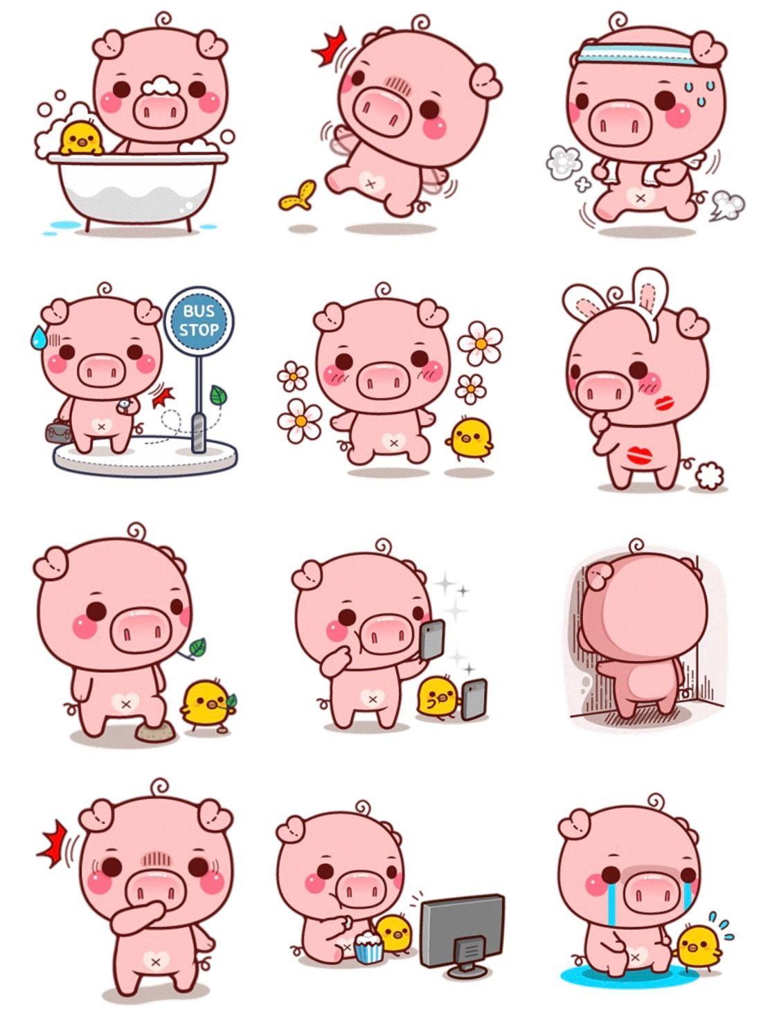 Cerdos Cerditos Cerdos Animados Y Carteles Graficos