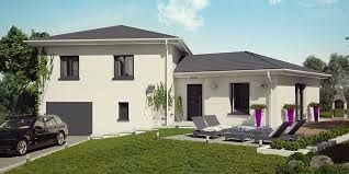 plan maison moderne demi niveau