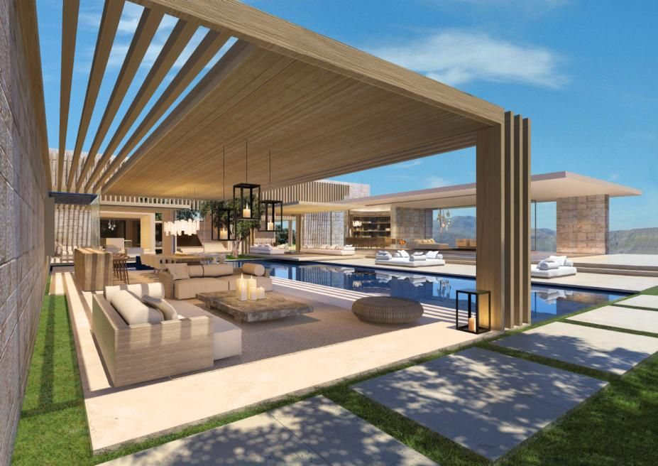 Concept for indoor/outdoor space  pool by SAOTA - Stefan Antoni