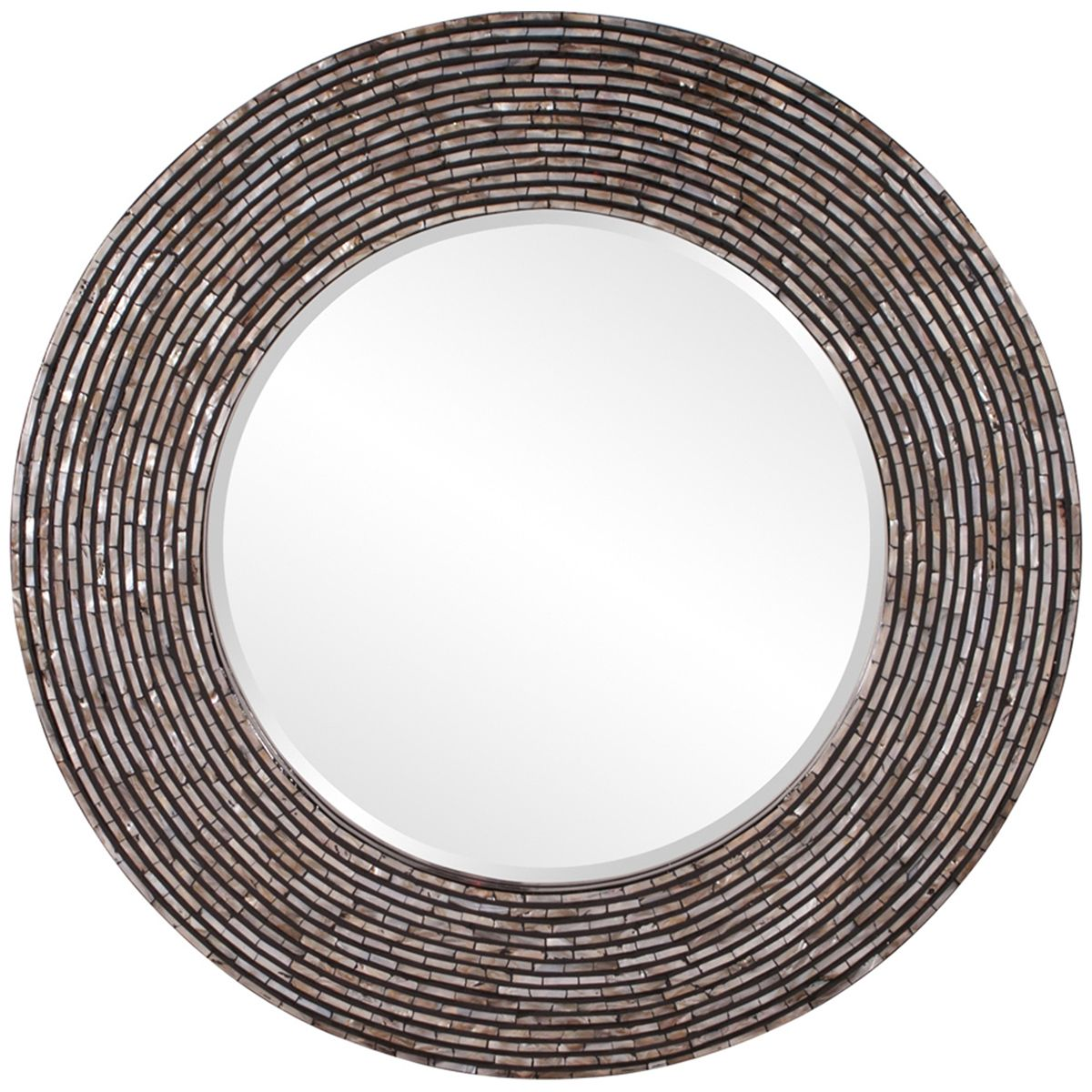 Howard Elliott Orlando Round Mother Of Pearl Mirror 25096