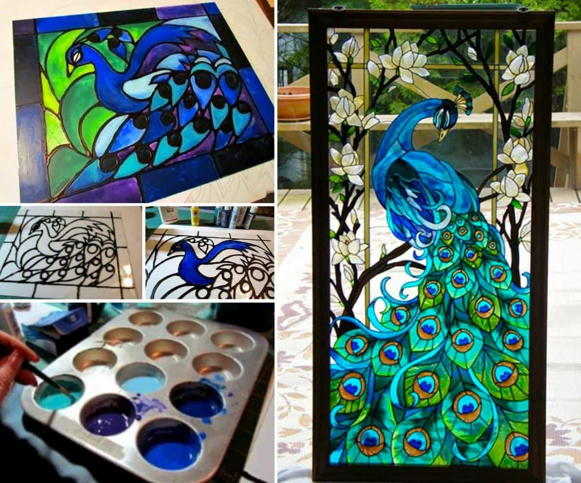 How to make faux stained glass using 2 ingredients with