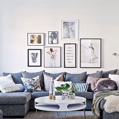 Never regret something that once made you smile......Cosy living room styled by @introinred by @stilreda