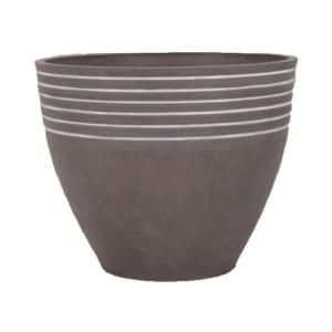 Arcadia Garden Products Striped 14 in. x 11 in. Dark Charcoal PSW Pot MM35DC at The Home Depot - Mobile