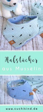 Photo of #Cuchikind #Dreieckstücher #für #Kinder #mit #Musselin