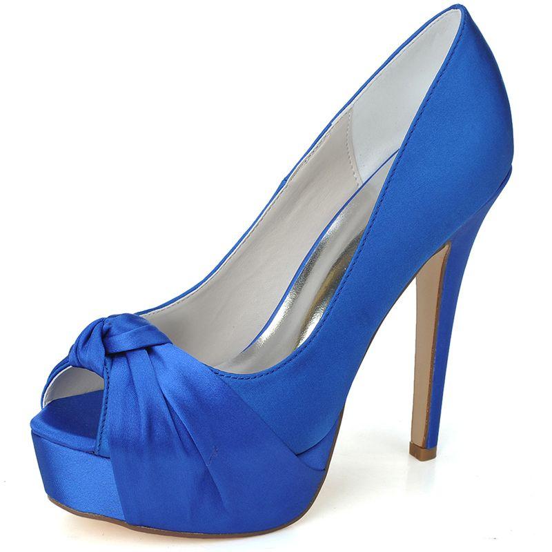 0283c0aa3 zapatos elegantes sencillos azul con plataformas - Buscar con Google Sapato  Meia Pata, Sandalia Meia