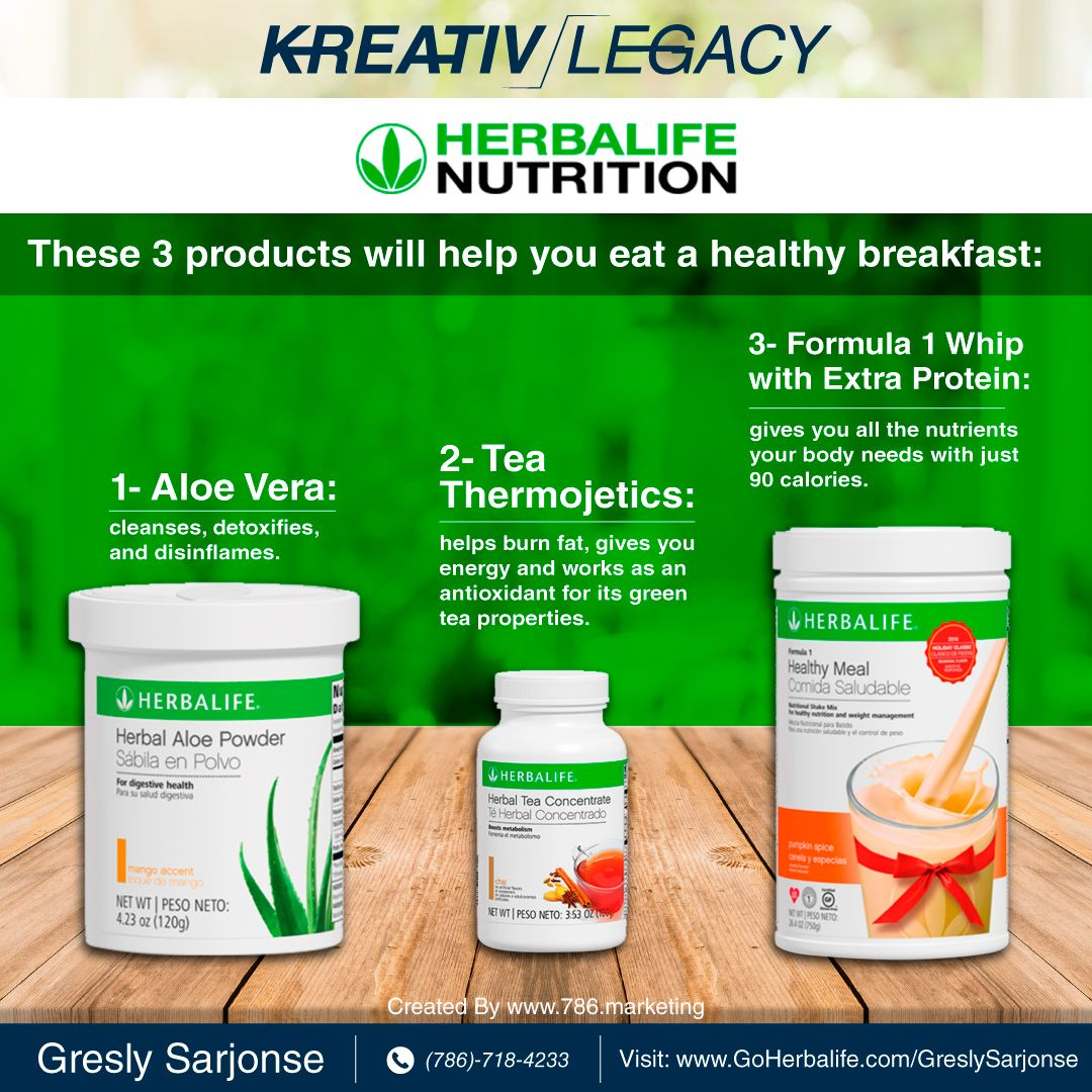 Stay healthy with Herbalife Nutrition. KreativLegacy