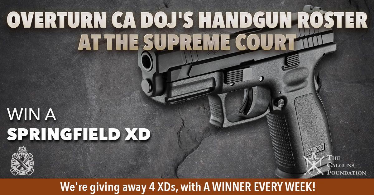 Springfield XD 9mm Pistol Giveaway (4 Winners) | Gun
