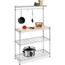 Walmart Whitmor Supreme Chrome Baker S Rack Kitchen Shelving
