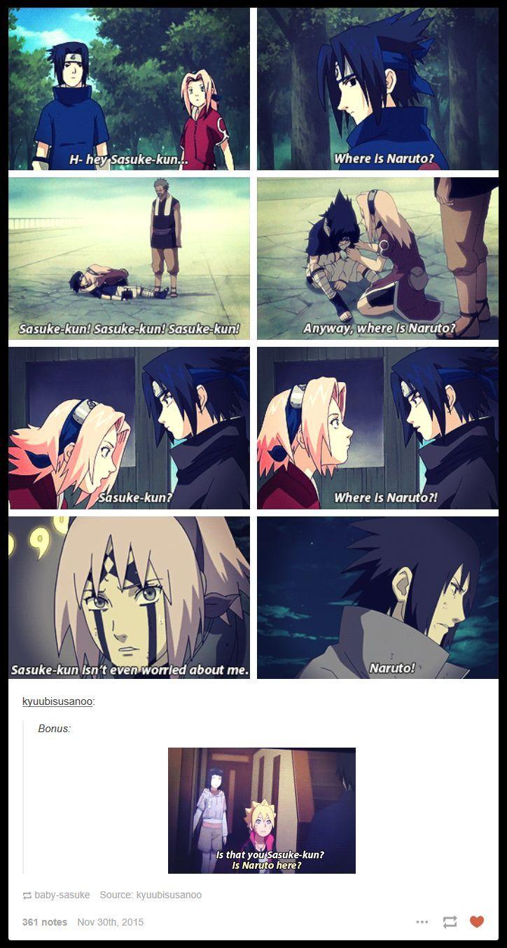 Sasuke keeps asking for Naruto