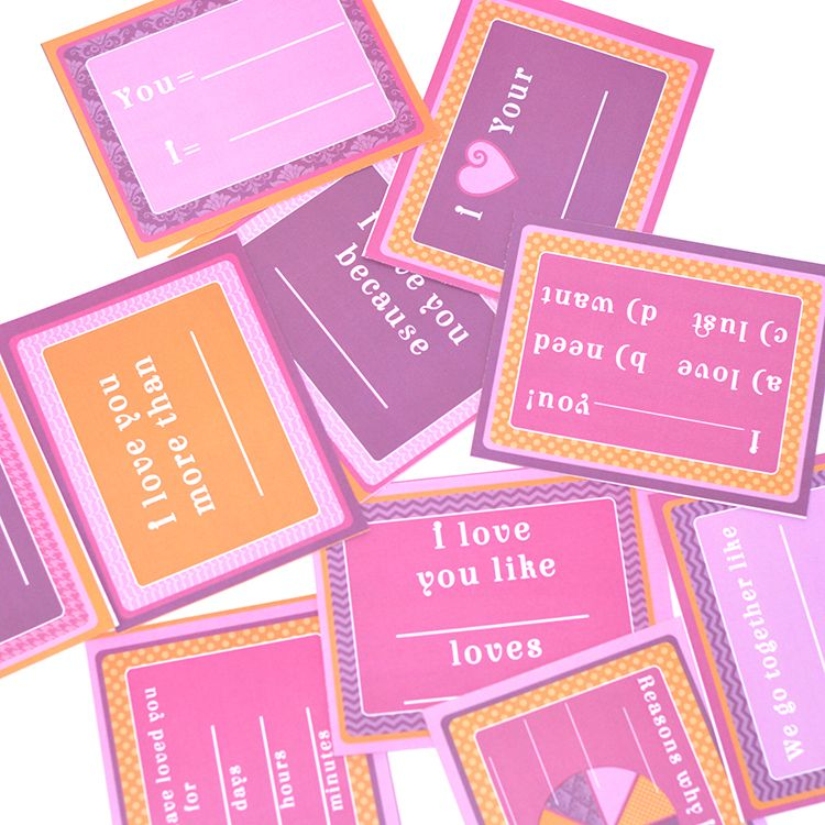 Fill-in-the-Blank V-Day Love Notes | Card ideas