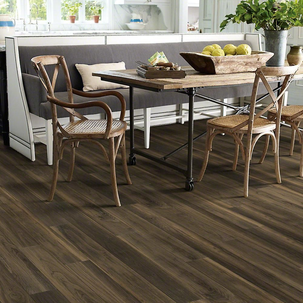 Shaw Grand Slam 6 in. x 48 in. Banks Resilient Vinyl Plank