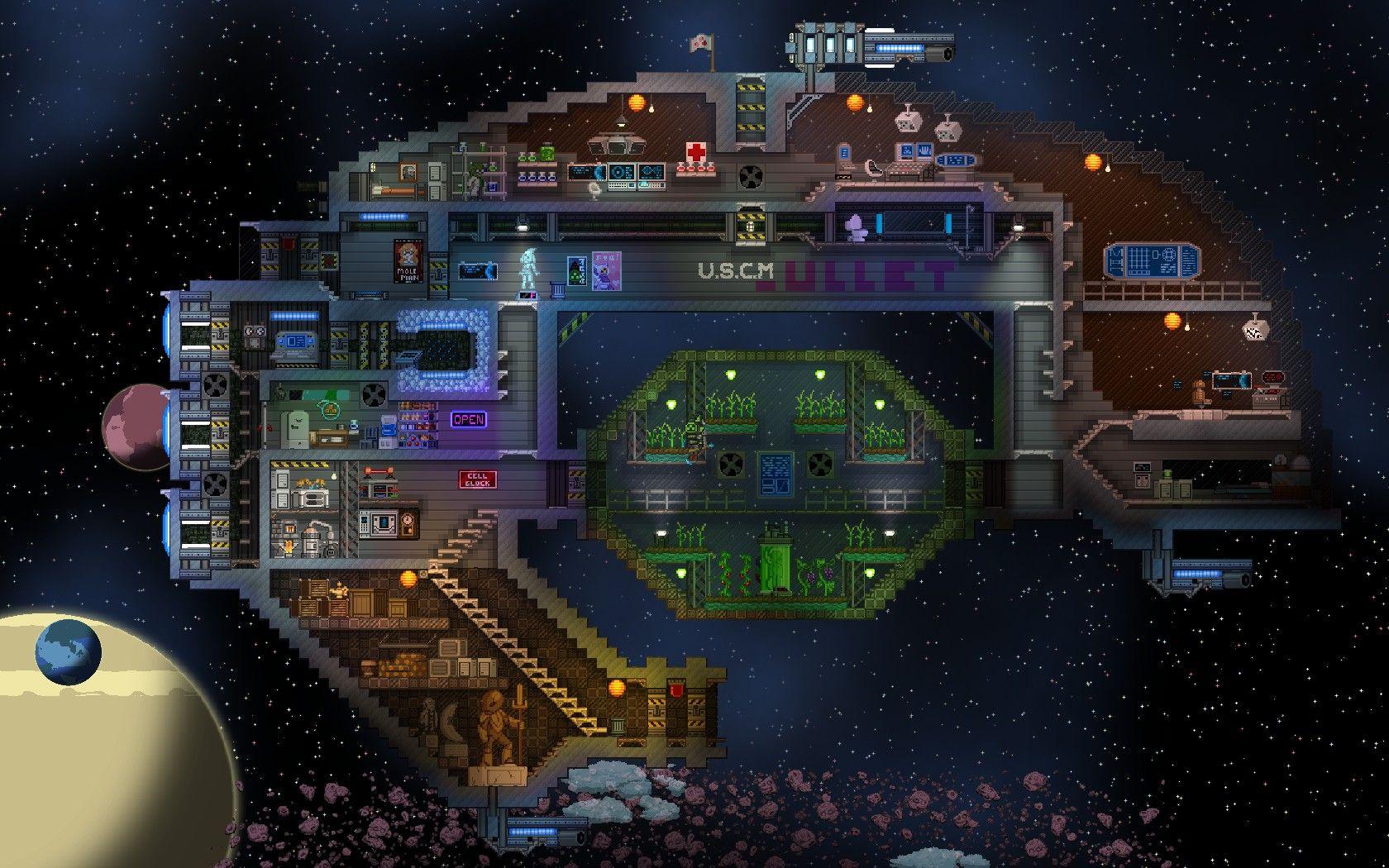 The Impatient Ship Mod At Starbound Nexus Fondos De Pantalla