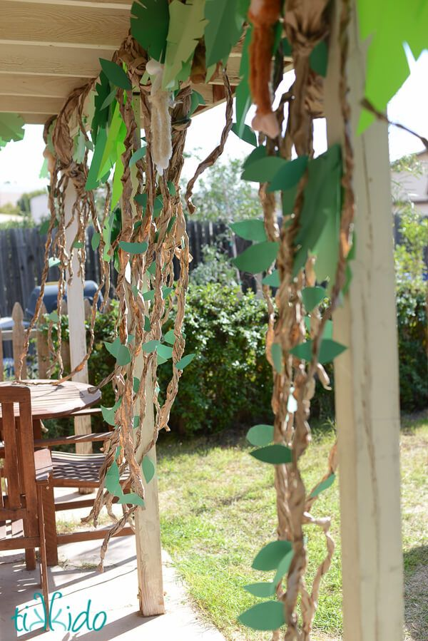Brown paper vines DIY