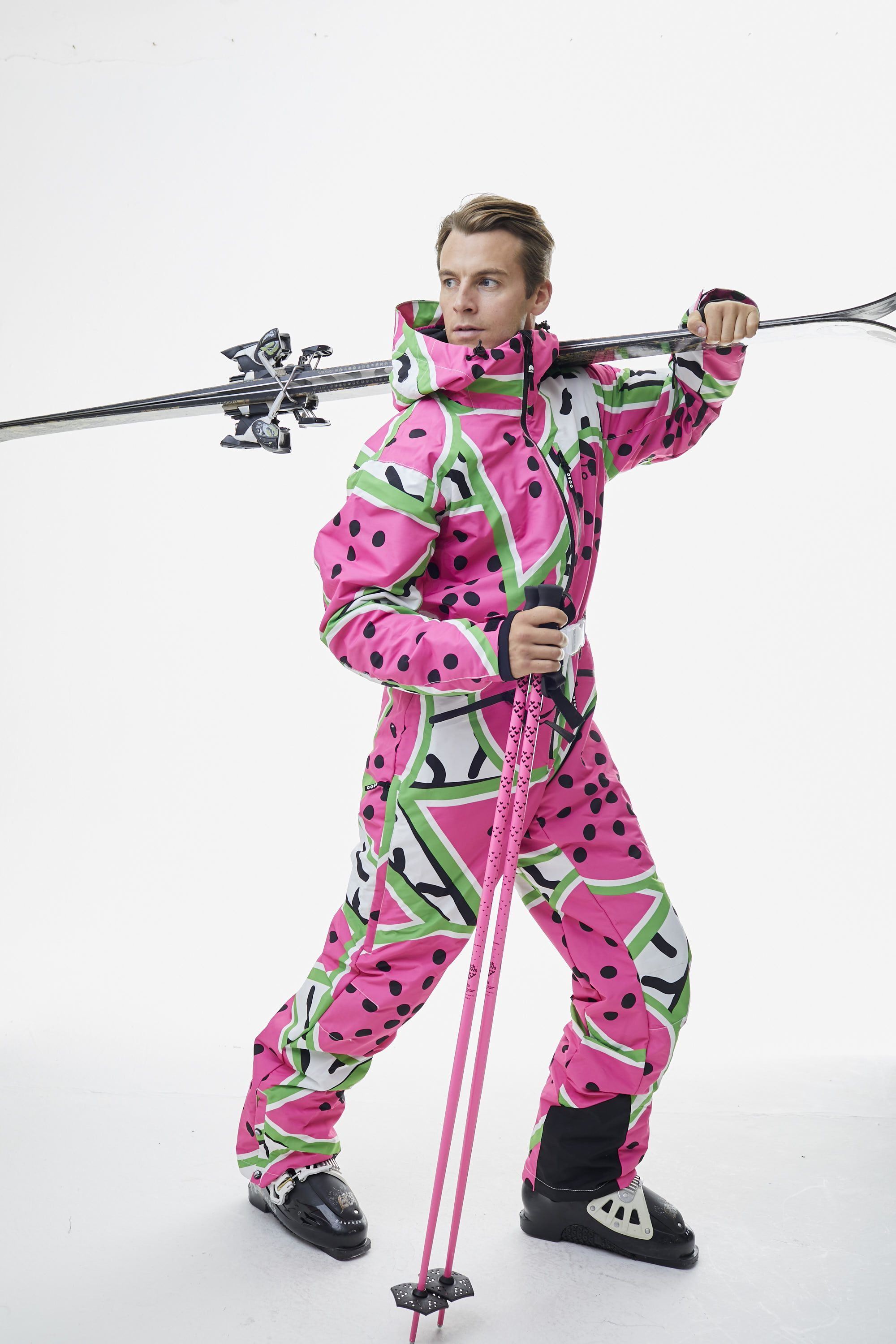All In One Ski Suit - Watermelon - OOSC Clothing   Clothes