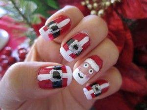 10 Ideas Para Uñas Navideñas 1001 Consejos Christmas Nails Santa Nail Art Nails