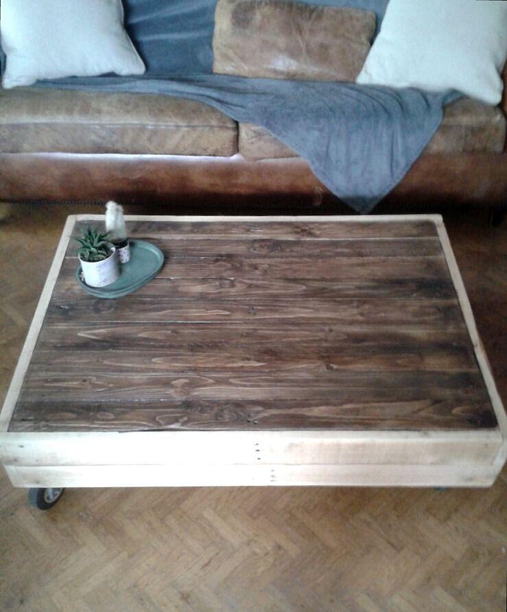 table basse en bois palette indus inspiration zen meubles et rangements par d cosmose tables. Black Bedroom Furniture Sets. Home Design Ideas