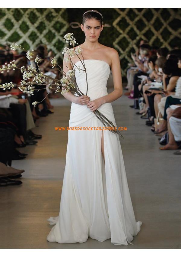 Belle robe de mariée pas cher 2013 simple robe de mariée mousseline