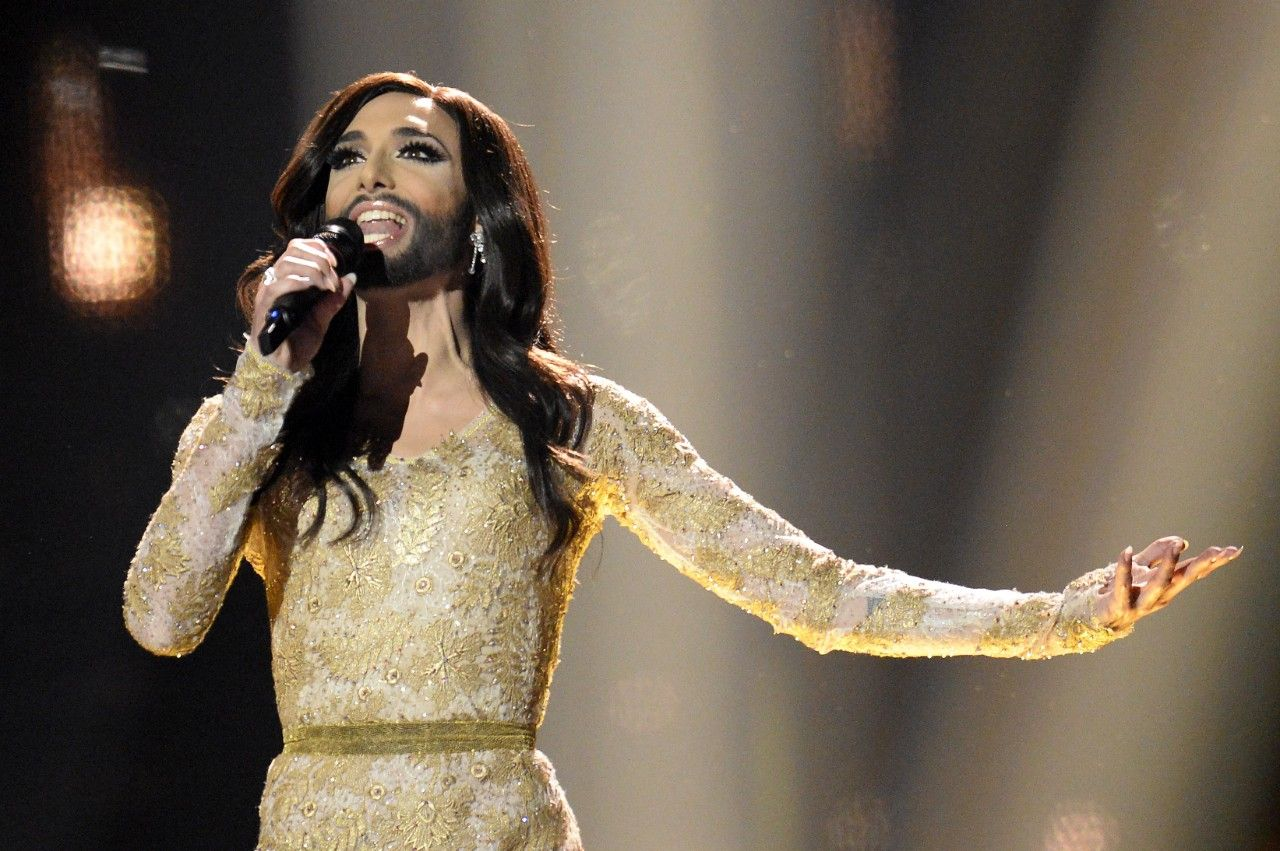 Conchita wurst and dana international in eurovision first star - Dana International Israel Dana International Pinterest Feminine