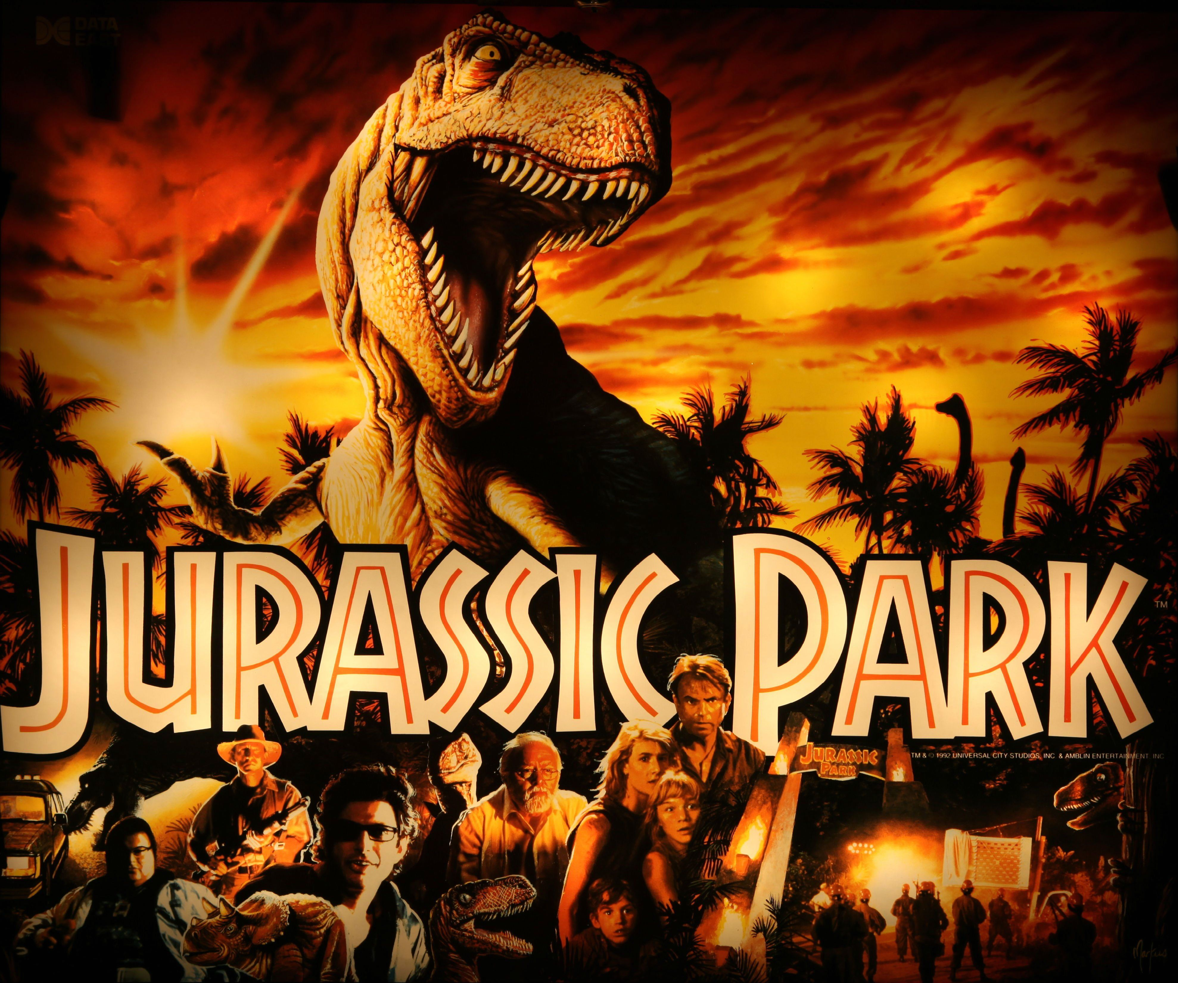 Original jurassic park movie poster