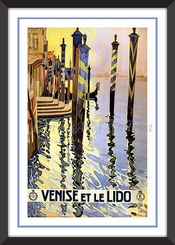Vintage VENISE VENICE ITALY Wall Art Decor TRAVEL POSTER Print Not ...