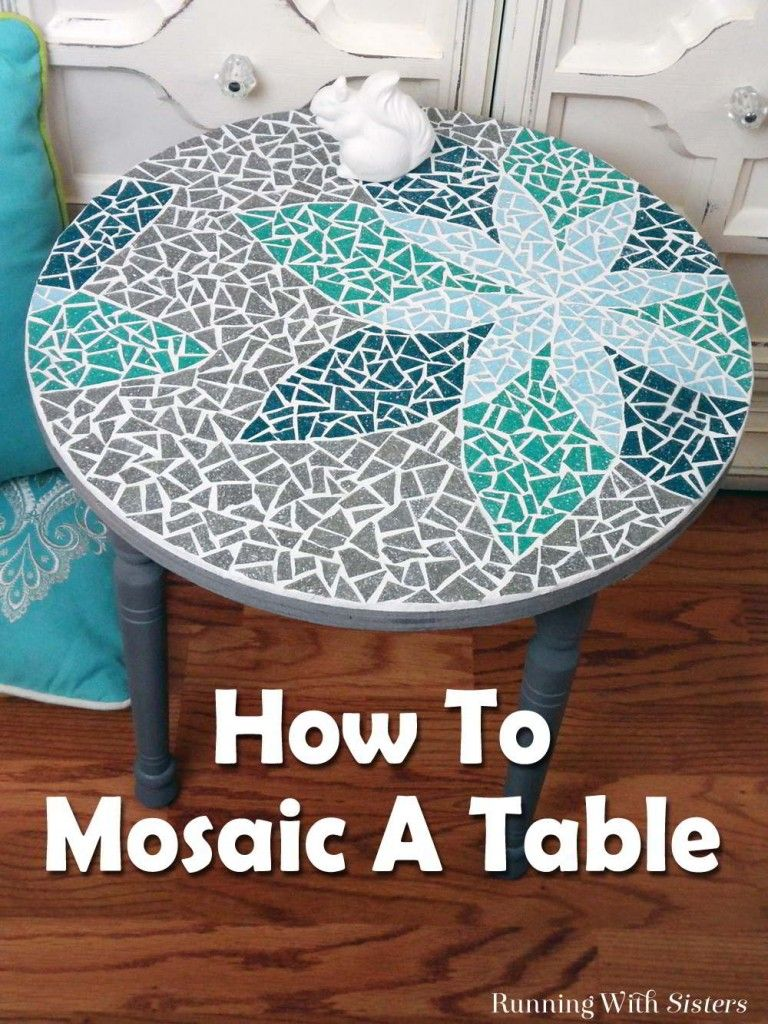 how to mosaic a table stained glass patterns pinterest mosaik mosaik diy und basteln. Black Bedroom Furniture Sets. Home Design Ideas