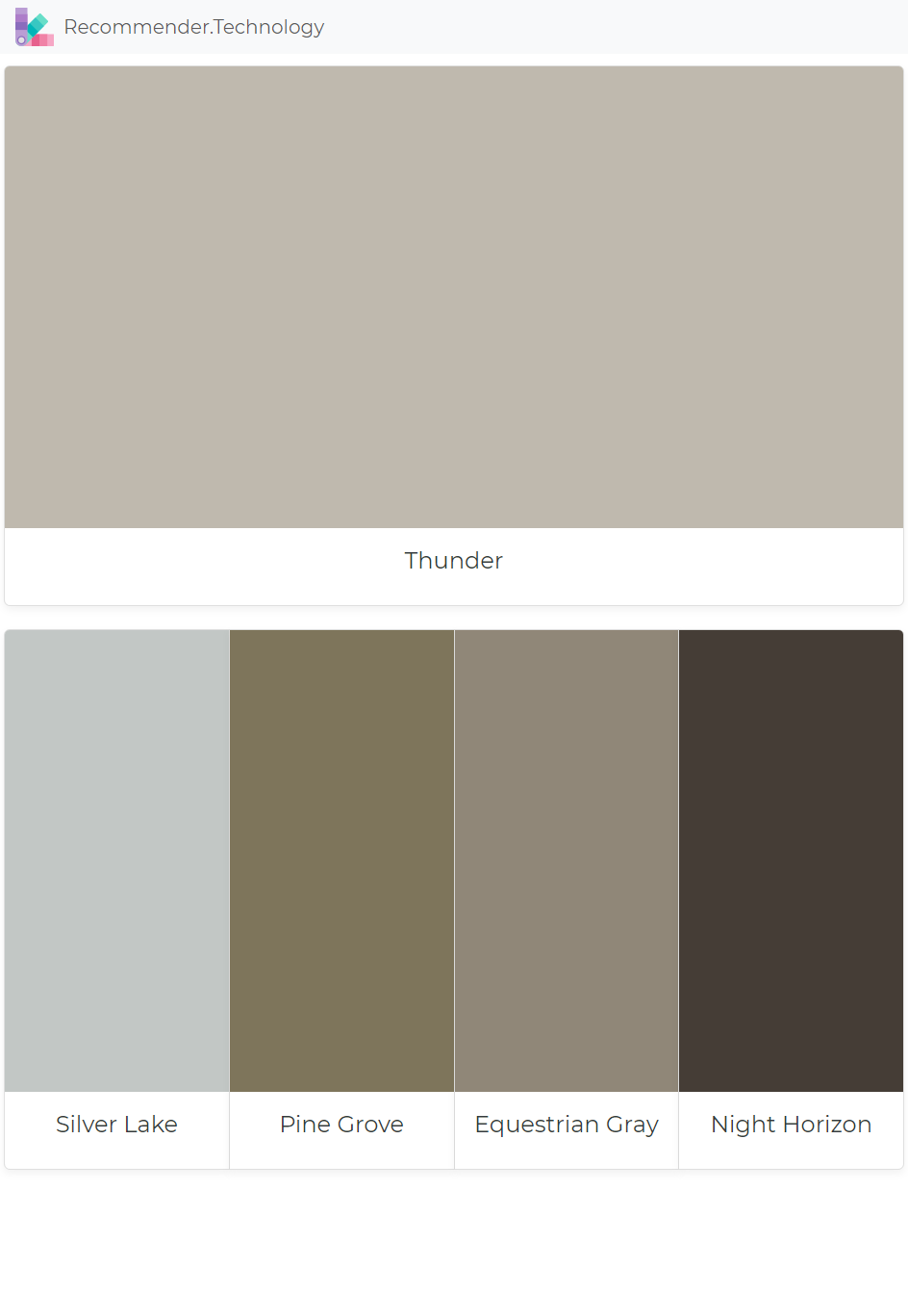 Thunder Silver Lake Pine Grove Equestrian Gray Night Horizon Paint Colors Benjamin Moore Paint Color Palettes Perfect Paint Color