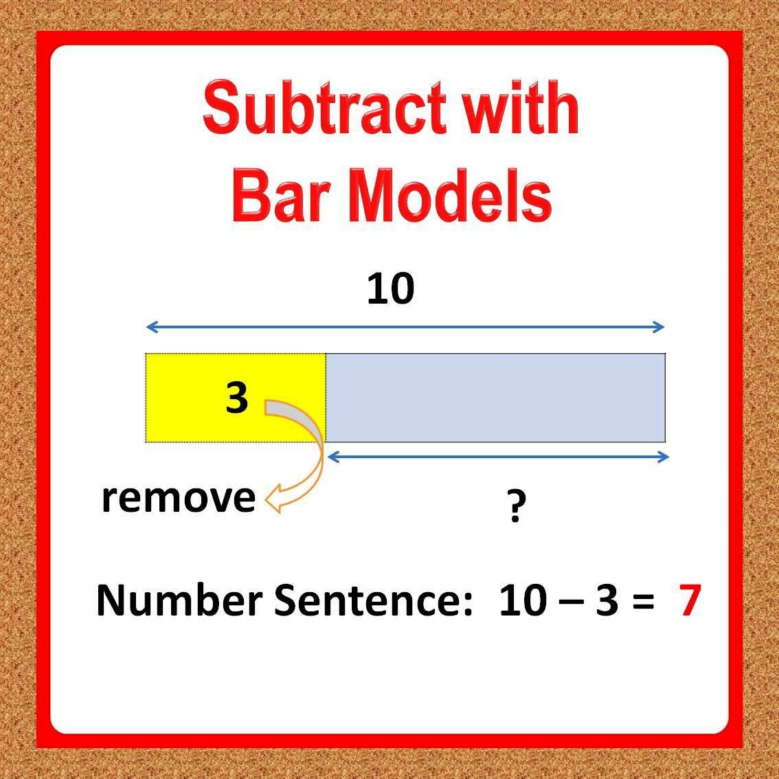 1st Grade Math Worksheets Subtraction Using Bar Models Based On Singapore Math Understand