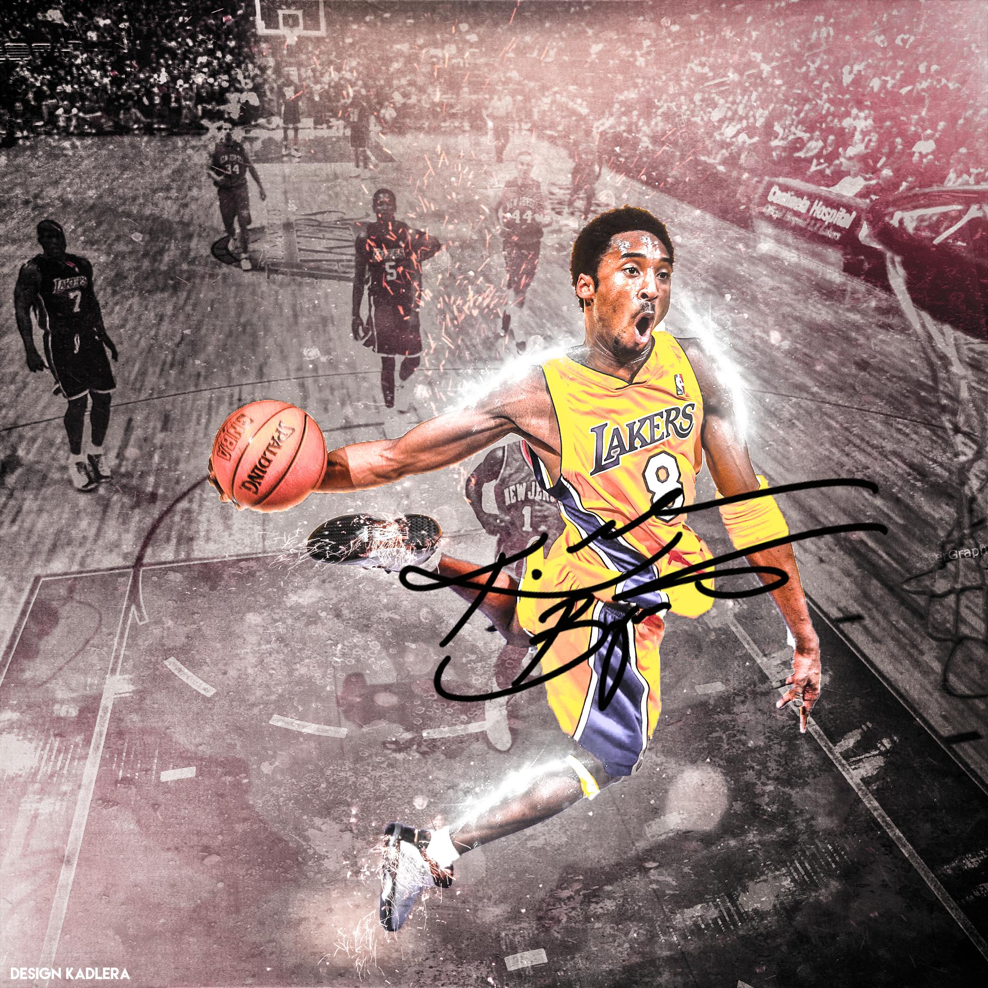 Kobe Bryant La Lakers Slam Dunk Wallpaper İphone Mobile