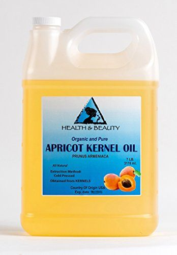 Apricot Kernel Oil Carrier Cold Pressed Organic 128 oz 7 LB 1 gal * See this great product.