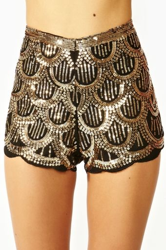 deab8343 Deco Sequin Shorts from Nasty Gal   Shorts in 2019   Sequin shorts ...