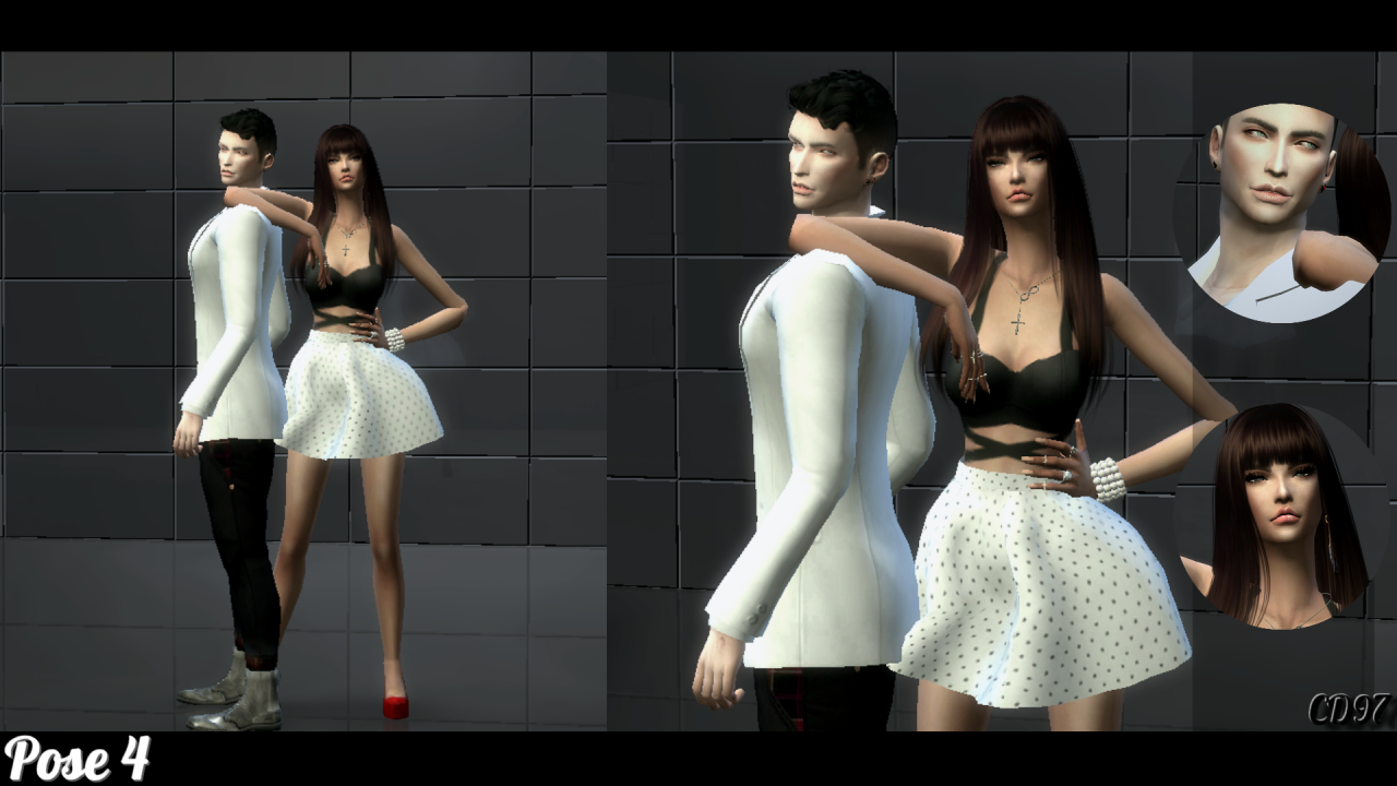 (TS4) Couple Pose Set 3 - *Pose Pack version* IN GAME -