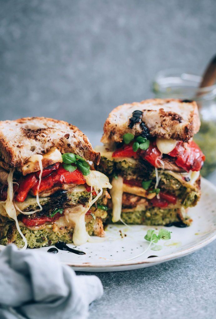 Grilled Vegetable Sandwiches with Havarti & Balsamic Drizzle