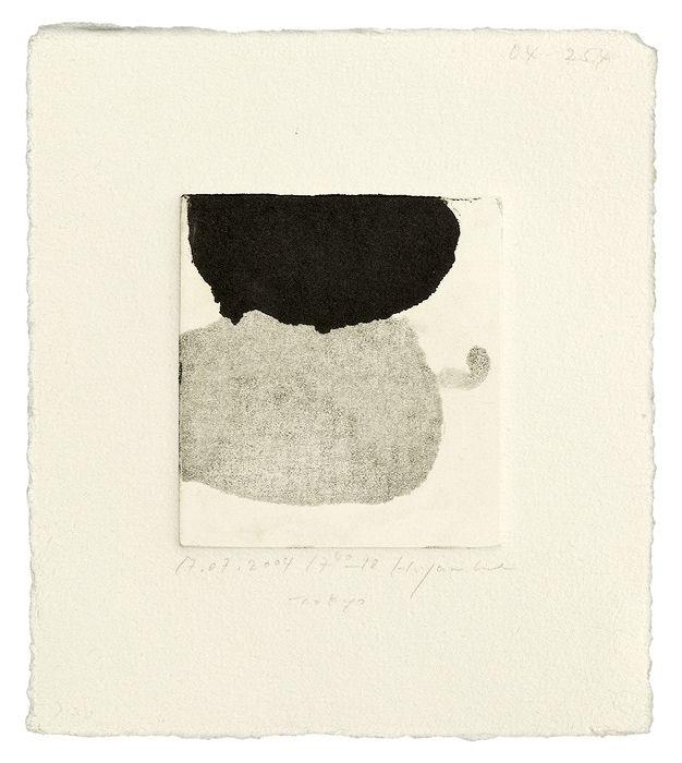 YAMANOBE Hideaki(山野辺 英明 Japanese, b.1964) Monotype on hand-made paper