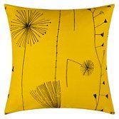 Lucienne Day Dandelion Clocks Cushion, Mustard at John Lewis