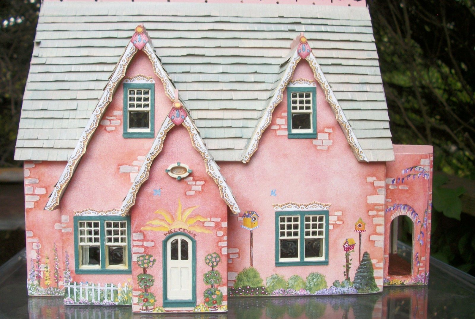 Quarter Scale Miniature 1/4 Scale 1:48 Two Floor Dollhouse Lovely ...