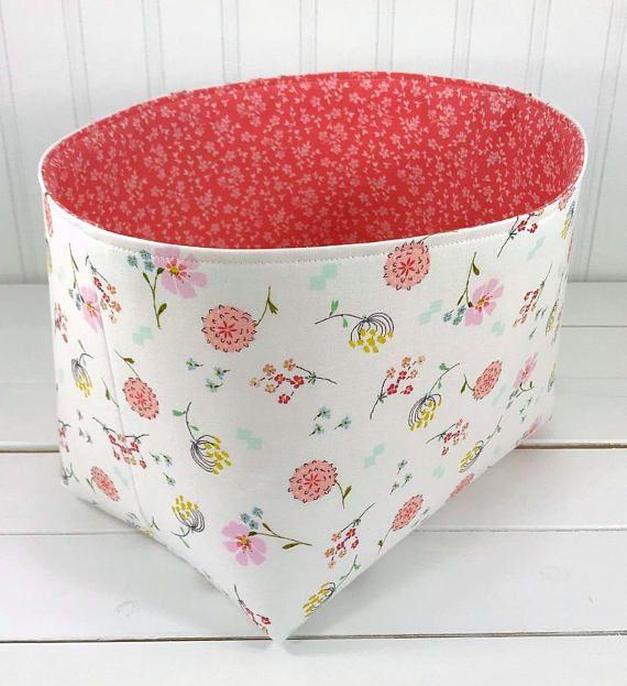 Decorative Fabric Storage Boxes Organizer Basket Fabric Binstorage Binshabby Chic Nursery Decor