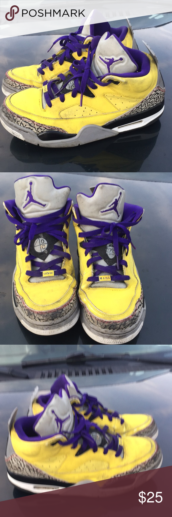 new products 3c053 cf211 NIKE AIR JORDAN SON OF LOW YELLOWGRAPECEMENT GREY NIKE AIR JORDAN SON OF LOW  TOUR YELLOW