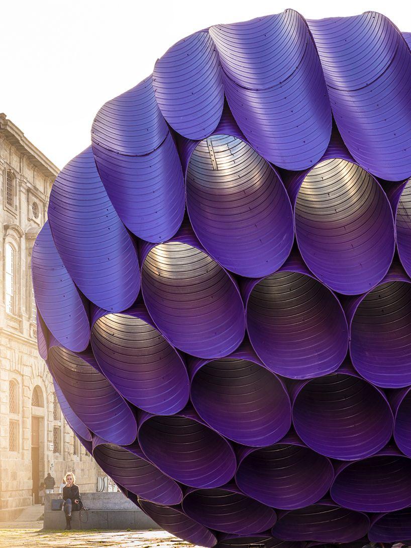 FAHR 021.3 sets enormous purple 'eclipse' in the historic heart of porto