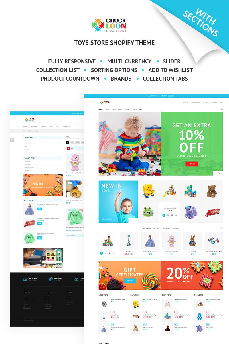 Chuck Loon - Responsive Toys & Children Clothes Online Store Shopify Theme https://www.templatemonster.com/shopify-themes/chuck-loon-responsive-toys-children-clothes-online-store-shopify-theme-67583.html/