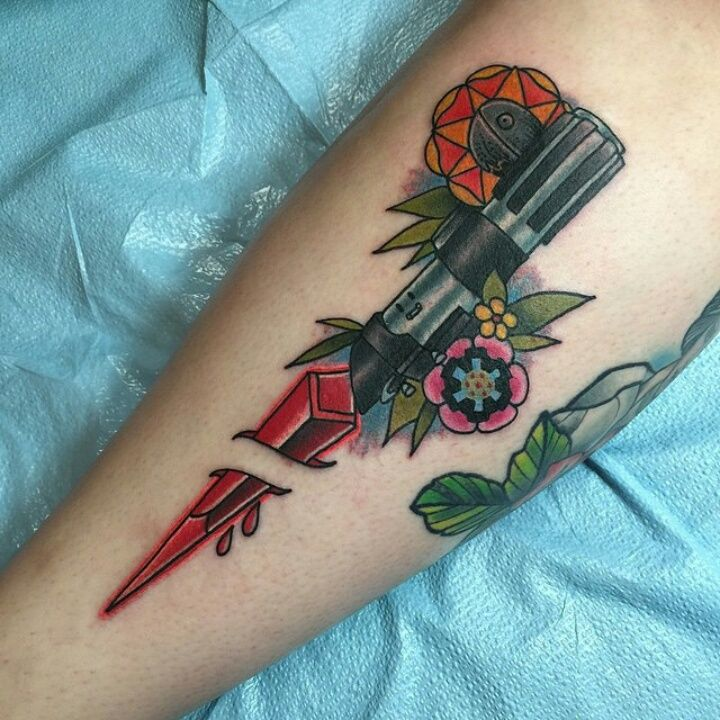 Star Wars tattoo - unknown artist (gotta find who did this and credit)