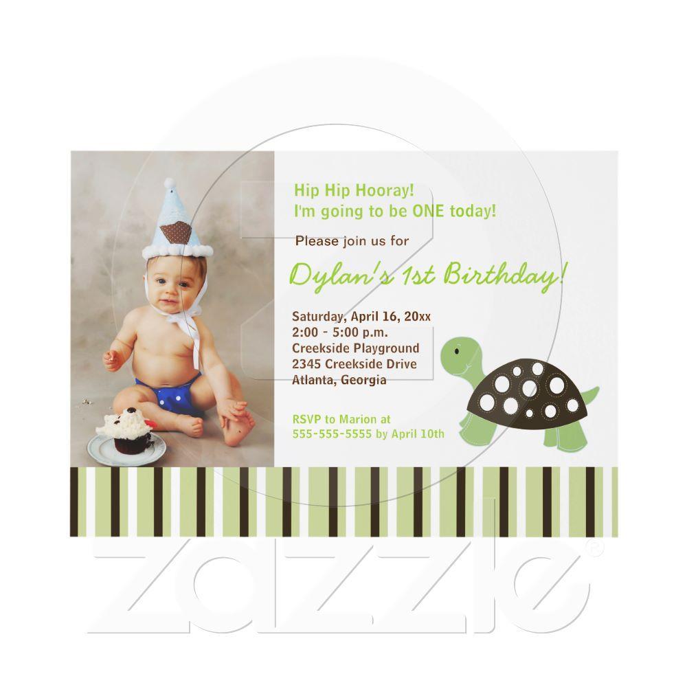 TBA} Green Mod Dot Turtle Birthday Invitation 5x7   Pinterest ...