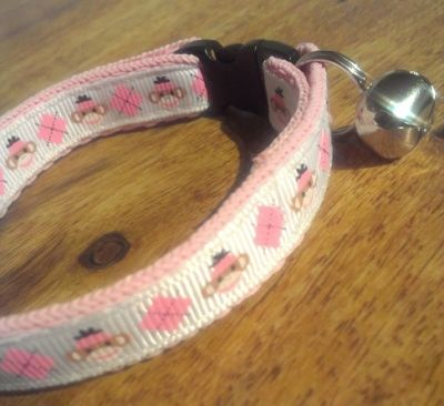 Saftey Cat Collar - Sock Monkey Design | The Cat's Whiskers MISI Handmade Shop