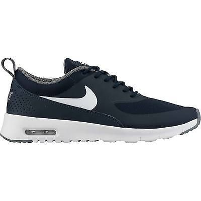 Nike Air Max Thea Gs Big Kids 814444 401 Obsidian Running Shoes Youth Size 4