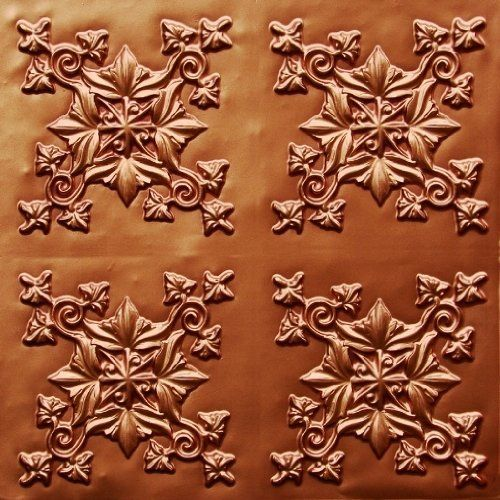 Decorative Plastic Ceiling Tiles Best Very Cheap Discounted Decorative Ceiling Tile Flat #305 Copper 2X2 Review