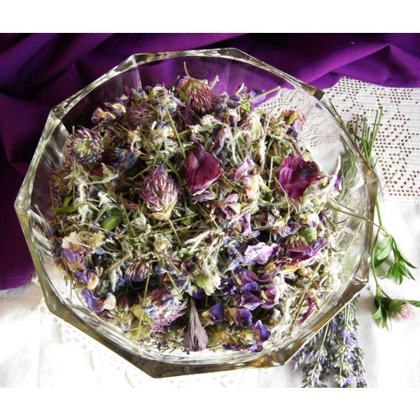 Lavender Dreams Potpourri, Natural Summer Flower Potpourri with... ($8) ❤ liked on Polyvore featuring home, home decor, home fragrance and flower stem