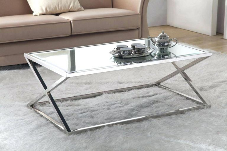 20 Popular Diy Coffee Table Ideas On A Budget For Your Modern Living Room Ideas Silver Coffee Table Stainless Steel Coffee Table Mirrored Coffee Tables