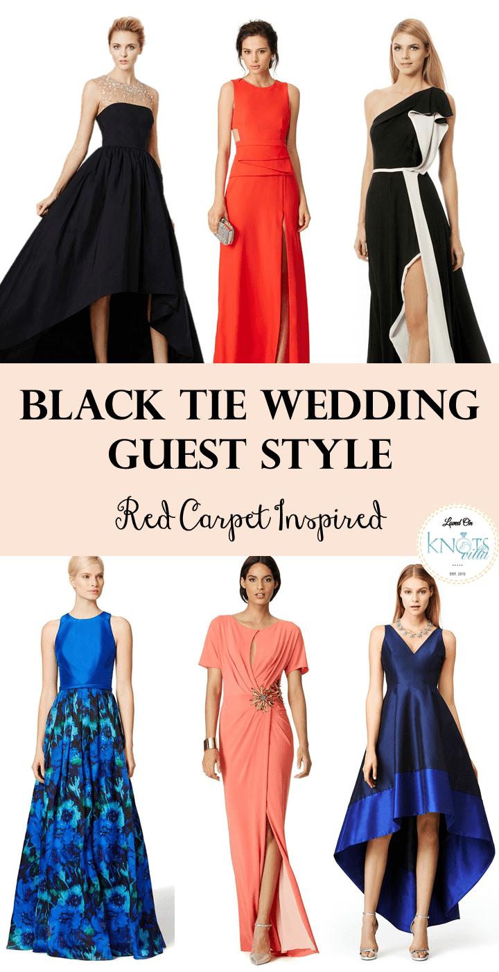 Black tie wedding guest long dresses