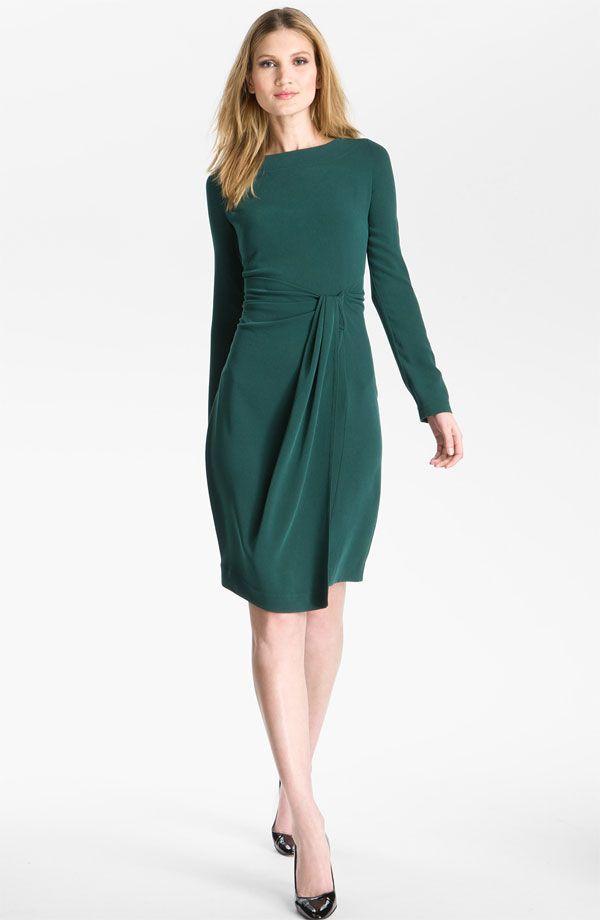 My dark green long sleeve Christmas dress! | Holiday Holiday | Pinterest